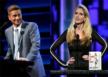 Ann Coulter is made a fool of at the Rob Lowe Roast to sell her book