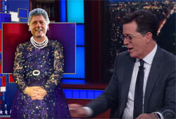Stephen Colbert, soon to be First Lady Bill Clinton