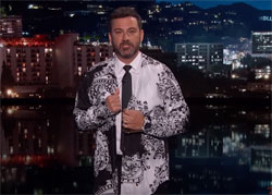 Jimmy Kimmel wrongly compares Trump to a happy shirt