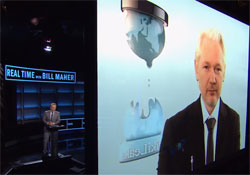 Bill Maher interview Julian Assange, why go after Democrats rather than Republicans?