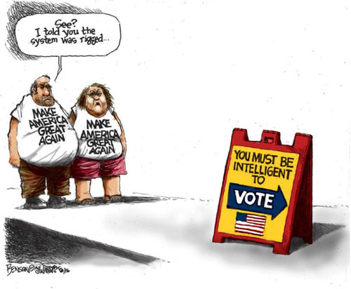 Rigged voting system for Trump voters