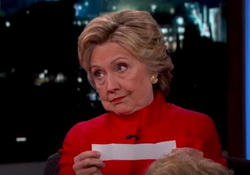 Hillary Clinton Tries to Read Donald Trump Quotes With Straight Face