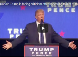 Donald Trump moves from calling for assassination of President Hillary to Candidate Hillary