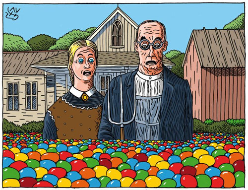 American Gothic Skittled