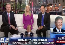 Donald Trump makes it all better with Fox and Friends, it was the microphone and she was fat!