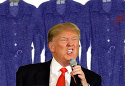 Donald Trump will take the Blue Dress to the next debate