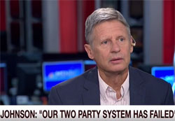 Libertarian candidate Gary Johnson bites the dust on Aleppo