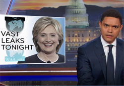 Daily Show, Hillary, Wikileaks and Julian Assange
