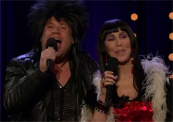 Cher and James Corden to I got you babe