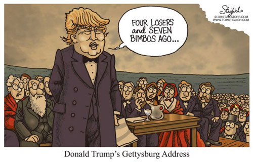 Donald Trump's Gettysburg Address so good Newt Gringrich faints
