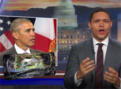 Daily Show Noah Trevor tries to save Obamacare with no help from Obama