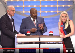SNL, Family Feud the Trumps versus the Clintons with Larry David and Margot Robbie