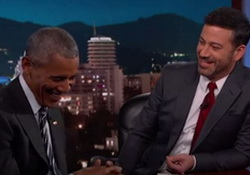 Kimmel Asks President Obama if He'd Like to Run Against Trump