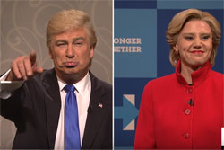 SNL Alex Baldwin and Kate McKinnon do Donald And Hillary one last time