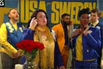 Star Studded Cast sings WE ARE ALL SWEDEN, Late Show