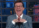 Trump takes bait, calls Colbert NO TALENT GUY, Stephen Colbert