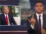 Trevor Noah gives the Finger to Roger Ailes Fox News Network