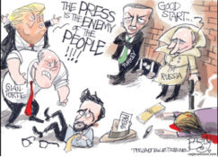 Body Slamming the enemy of the people, the free press