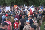 Hundreds of armed morons rally to save Statue of Sam Houston!