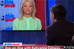 Counsel to The President Kellyanne is Conway physically dragged off camera by George Stephanopoulos