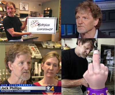 Homophobic bigot Jack Phillips owner of Masterpiece Cakeshop of Lakewood Colorado going to Supreme Court