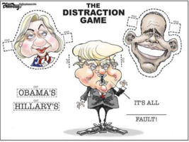 Trump, his Spoxs, Talk Radio and Fox New blame it all on Hillary and Obama
