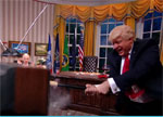 Trump trashes the Oval Office, The President Show