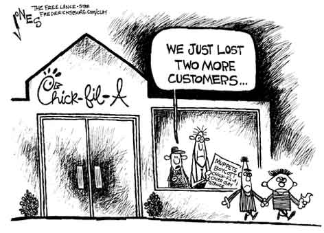 bert and earnie at chick-fil-A