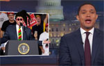 Trevor Noah waiting for the Reggae Trump to appear, The Daily Show