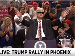 SNL: Alex Baldwin does the Trump Phoenix Rally