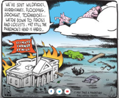Can even God's Frogs and Locusts get Republicans to accept Climate Change?