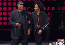 Stevie Wonder takes both Knees with Colin Kaepernick and tops it off with Imagine, MORE KNEE!