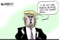 I did not have financial relations with that country, Russia