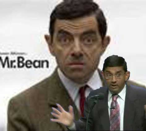 Dinesh D'Souza and Mr Bean