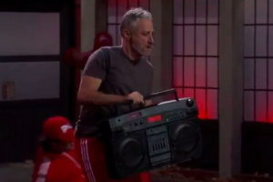 Jimmy Kimmel - Jon Stewart Dancing and Matt Damon Video Interrupt Monologue