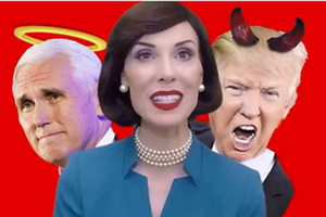 Mike Pence Tells Mrs Betty Bowers How He Pretends to be a Christian