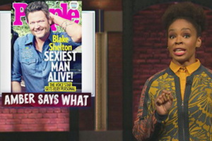 Seth Meyers, Amber Says What - Blake Shelton Sexiest, Serena Williams' Wedding, Pink