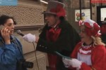 Amy Poehler, Billy Eichner Bombard Pedestrians With Funny or Die Christmas Carol Challenge Jimmy Kimmel