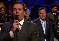 Mitt Romney Slow Jams the News Jimmy Fallon