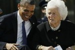 Obama and Barbara Bush