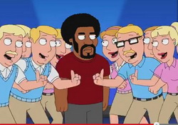 "Family Guy Comedy Song: Thank the Whites from ""Baby Got Black"""