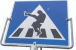 Norway Crossing Sign : Monty Python Silly Walk Required!