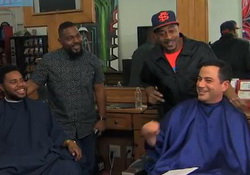 Jimmy Kimmel Visits Barbershop to Discuss Donald Sterling & V. Stiviano