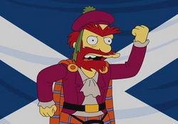 Groundskeeper Willie for Scottish Independence! the Simpsons