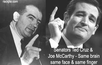 Ted Cruz as Joe McCarthy