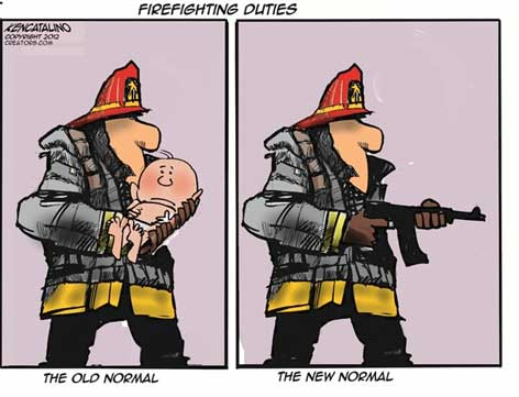 firemen need assault rifles