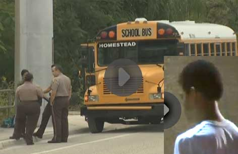 15 year old shoots 13 year old on Homestead school bus