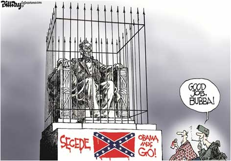 The South And Old Abe Lincoln Day Cartoon Rack Jite