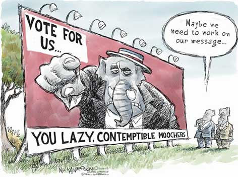 Republicans moocher message, anderson