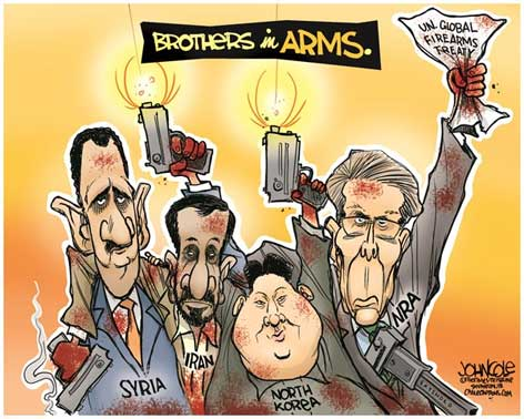 nra, syria, Iran and north korea